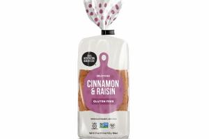 GLUTEN FREE DELICIOUS CINNAMON & RAISIN 100% PLANT BASED + EGG FREE BREAD