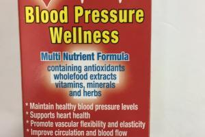 Blood Pressure Wellness Tablet Dietary Supplement
