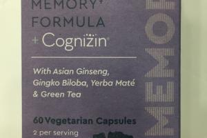 Memory Formula + Cognizin Dietary Supplement