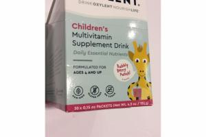 CHILDREN'S MULTIVITAMIN SUPPLEMENT DRINK BUBBLY BERRY PUNCH!