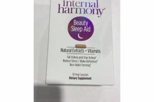 NATURAL EXTRACTS + VITAMINS BEAUTY SLEEP AID VEGI CAPSULES DIETARY SUPPLEMENT
