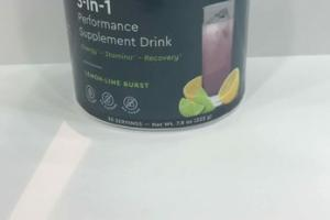 SPORT 3-IN-1 PERFORMANCE SUPPLEMENT DRINK, LEMON-LIME BURST