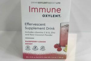 RASBPERRY-LEMON BOOST IMMUNE EFFERVESCENT SUPPLEMENT DRINK
