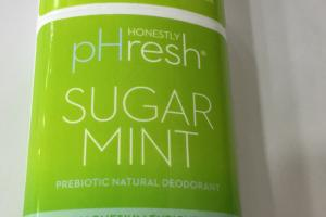 Prebiotic Natural Deodorant, Sugar Mint