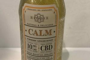 CALM CBD HEMP EXTRACT HIGH BIOAVAILABILITY DIETARY SUPPLEMENT FLUID OUNCES, TURMERIC GINGER HONEY