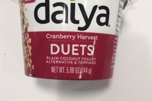 Duets Plain Coconut Yogurt Alternative & Toppings