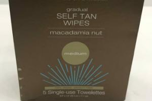 MEDIUM GRADUAL SELF TAN WIPES SINGLE-USE TOWELETTES, MACADAMIA NUT