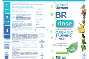 BR ORGANIC BRUSHING RINSE, PEPPERMINT