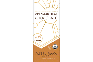 SALTED MACA CRUNCH 70% CACAO PREMIUM DARK CHOCOLATE