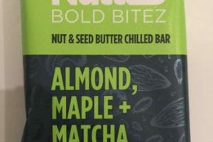 ALMOND MAPLE + MATCHA NUT & SEED BUTTER CHILLED BOLD BITEZ BAR