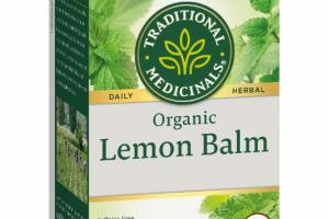 ORGANIC LEMON BALM HERBAL SUPPLEMENT
