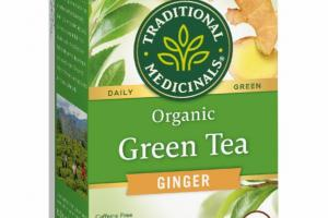 ORGANIC GINGER DAILY GREEN TEA HERBAL SUPPLEMENT BAGS
