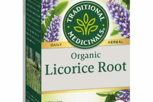 ORGANIC LICORICE ROOT DAILY HERBAL SUPPLEMENT TEA BAGS