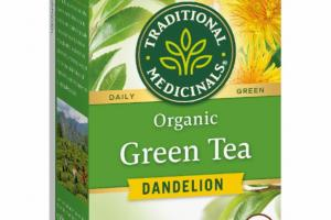 ORGANIC DAILY GREEN HERBAL SUPPLEMENT TEA BAGS, DANDELION