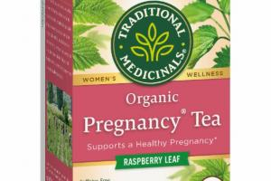 ORGANIC WOMEN'S WELLNESS HERBAL SUPPLEMENT TEA BAGS, RASPBERRY LEAF