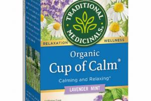 ORGANIC LAVENDER MINT CALMING AND RELAXING CAFFEINE FREE HERBAL SUPPLEMENT