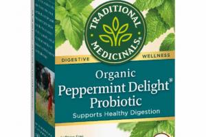 ORGANIC PROBIOTIC SUPPORTS HEALTHY DIGESTION HERBAL TEA BAGS