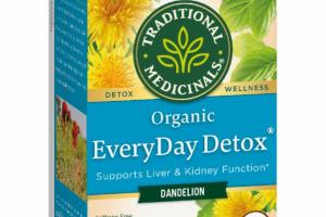ORGANIC SUPPORTS LIVER & KIDNEY FUNCTION HERBAL SUPPLEMENT TEA BAGS, DANDELION