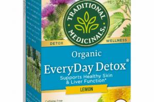 ORGANIC SUPPORTS HEALTHY SKIN & LIVER FUNCTION HERBAL SUPPLEMENT TEA BAGS, LEMON