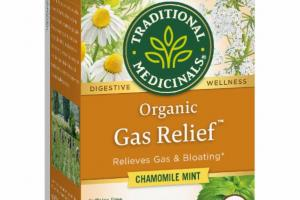 ORGANIC RELIEVES GAS & BLOATING HERBAL SUPPLEMENT TEA BAGS, CHAMOMILE MINT