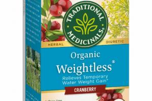 ORGANIC CRANBERRY WEIGHTLESS HERBAL SUPPLEMENT WRAPPED TEA BAGS