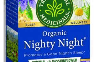 ORGANIC PROMOTES A GOOD NIGHT'S SLEEP HERBAL SUPPLEMENT