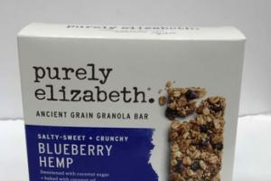 BLUEBERRY HEMP SALTY-SWEET+CRUNCHY ANCIENT GRAIN GRANOLA BAR