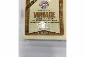 NEW ZEALAND GRASS FED VINTAGE CHEDDAR CHEESE