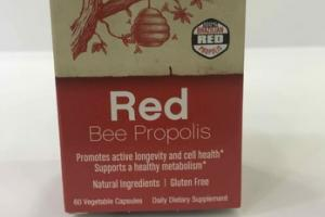 RED BEE PROPOLIS DIETARY SUPPLEMENT VEGETABLE CAPSULES