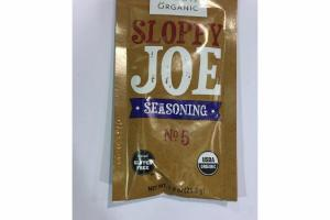 ORGANIC SLOPPY JOE SEASONING NO. 5