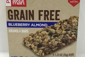 GRAIN FREE BLUEBERRY ALMOND GRANOLA BARS