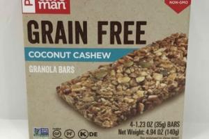 GRAIN FREE COCONUT CASHEW GRANOLA BARS