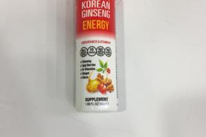 Korean Ginseng Energy Supplement