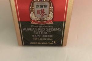 CHEONGKWANJANG KOREAN RED GINSENG EXTRACT DIETARY SUPPLEMENT