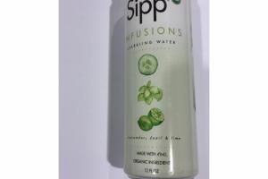 CUCUMBER, BASIL & LIME INFUSIONS SPARKLING WATER