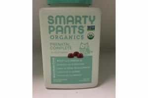 ORGANICS PRENATAL COMPLETE DIETARY SUPPLEMENT VEGETARIAN GUMMIES