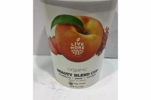 STRAWBERRY, PEACH, COLLAGEN ORGANIC BEAUTY BLEND CUP