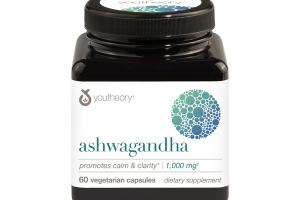 ASHWAGANDHA 1,000 MG PROMOTES CALM & CLARITY DIETARY SUPPLEMENT VEGETARIAN CAPSULES