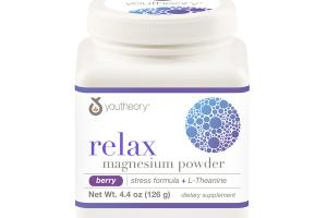 RELAX MAGNESIUM POWDER DIETARY SUPPLEMENT, BERRY