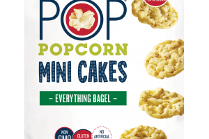 EVERYTHING BAGEL MINI CAKES POPCORN