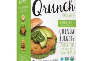 Quinoa Burgers - Green Chile