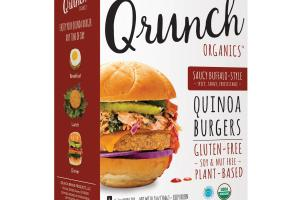 Quinoa Burgers Saucy Buffalo-style