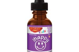 NDF HAPPY REMOVES UNWANTED ORGANISMS & TOXINS LIQUID HERBAL DROPS DIETARY SUPPLEMENT, PEACH