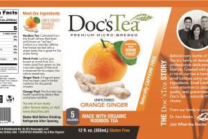 Unfiltered Orange Ginger Premium Micro-brewed Rooibos Tea