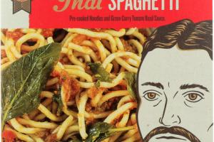 THAI SPAGHETTI PRE-COOKED NOODLES AND GREEN CURRY TOMATO BASIL SAUCE REAL MEAL KIT