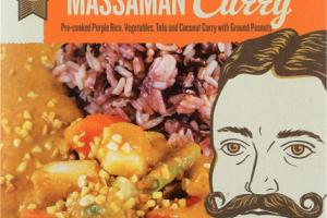 MASSAMAN CURRY PRE-COOKED PURPLE RICE, VEGETABLES, TOFU AND COCONUT CURRY WITH GROUND PEANUTS REAL MEAL KIT