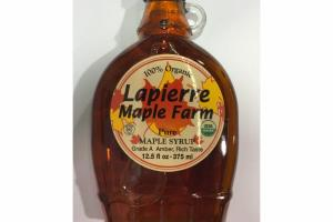 100% ORGANIC PURE MAPLE SYRUP