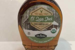 100% NATURAL PURE MAPLE SYRUP