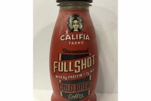 UNSWEETENED FULL SHOT COLD BREW COFFEE WITH ALMONDMILK & COCONUT CREAM