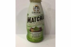 MATCHA ALMOND BEVERAGE WITH CEREMONIAL GREEN TEA